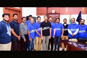Launch of Car Free day T- Shirt