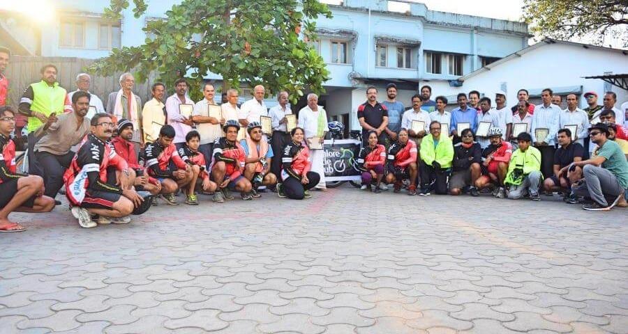 Felicitation Ride for Veteran Cyclists