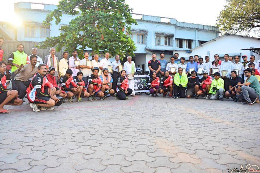 Felicitation Ride for Veteran Cyclists