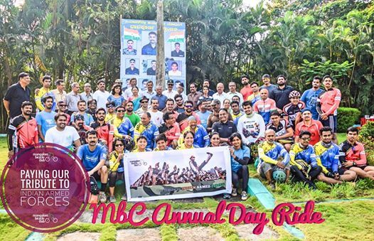 MbC Annual Day Ride-Paying Our Tribute to Indian Armed Forces